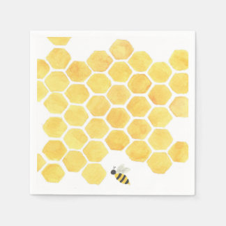 ¡servilletas amarillas de la abeja! servilletas de papel