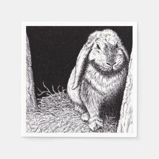 servilletas animales del papel de dibujo del servilletas de papel
