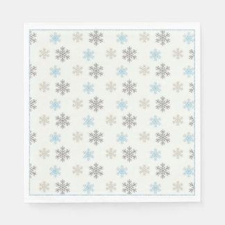 Servilletas azules rústicas del copo de nieve de servilletas de papel