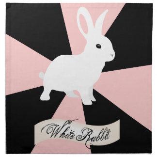 Servilletas blancas, rosa y negro del conejo