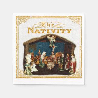 Servilletas de la natividad del navidad servilletas de papel