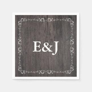 Servilletas de madera del boda del boda del país servilleta desechable