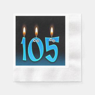 Servilletas De Papel 105a vela del cumpleaños con los globos del ojo