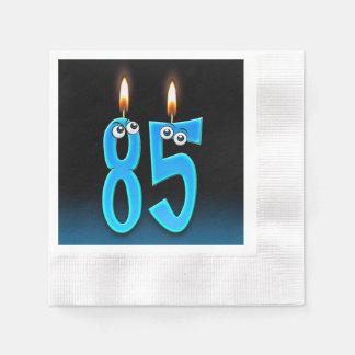 Servilletas De Papel 85a vela del cumpleaños con los globos del ojo