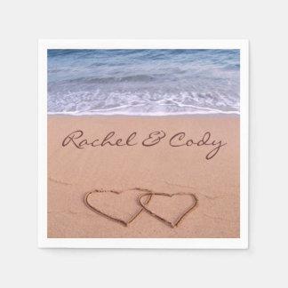 Servilletas De Papel Amor en la playa