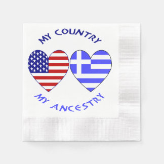 Servilletas De Papel Ascendencia griega del país de la bandera del
