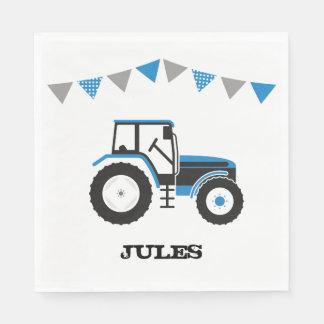 Servilletas de papel azules de la fiesta de