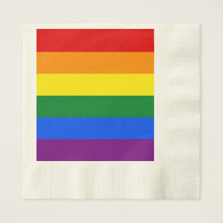 Servilletas De Papel Bandera del arco iris
