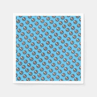 Servilletas De Papel Bolas del cromo en azul