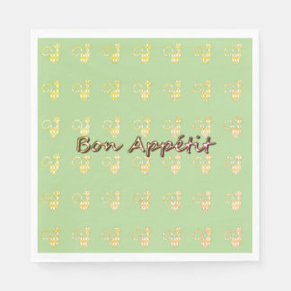 Servilletas De Papel Bon-Apetito--Gato-Harlequin-Diamante--Celebre