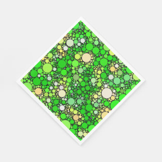 Servilletas De Papel Burbujas de Zazzy, verdes