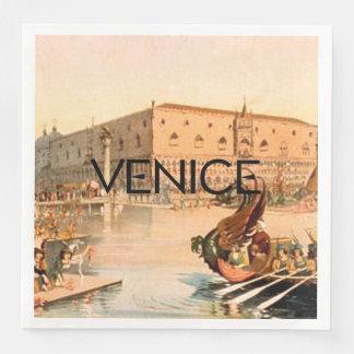 Servilletas De Papel CAMISETA encendido a Venecia