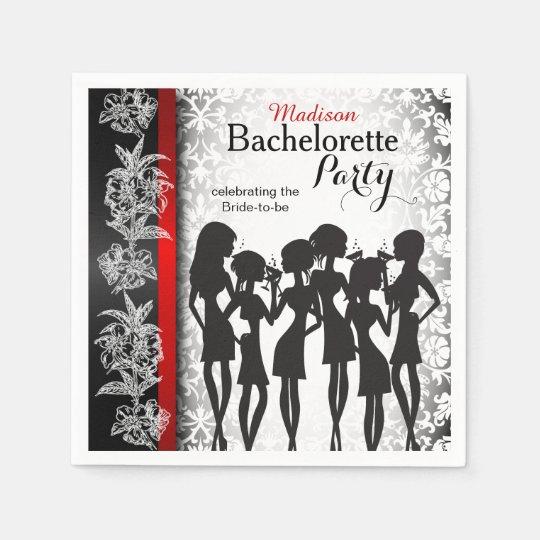 Servilletas De Papel Celebración moderna del fiesta de Bachelorette -