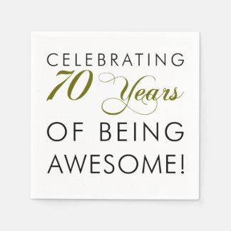 Servilletas De Papel Celebre 70 años de ser impresionante