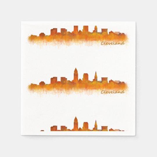 Servilletas De Papel cleveland Ohio USA Skyline city v02