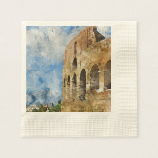 Servilletas De Papel Colosseum antiguo en Roma Italia