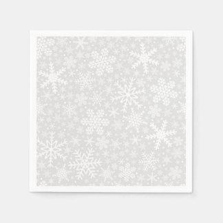 Servilletas De Papel Copos de nieve en servilletas del día de fiesta de
