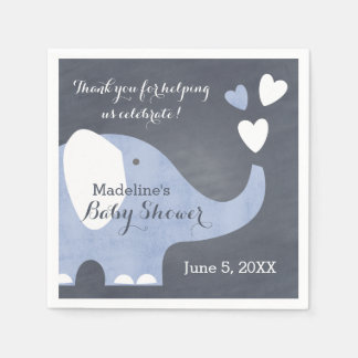 Servilletas De Papel Corazón azul del elefante