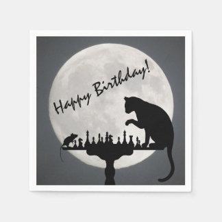 Servilletas De Papel ¡Cumpleaños del juego del gato y del ratón de la