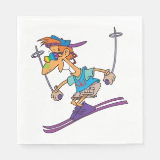 Servilletas de papel de esquí del individuo