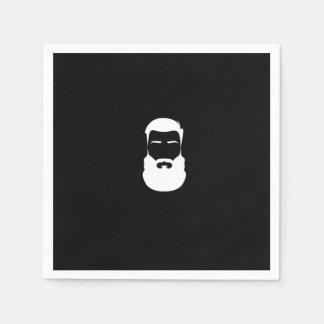 Servilletas de papel de la barba blanca