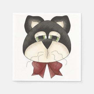 Servilletas de papel de la cara de los gatos