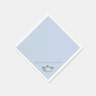 Servilletas de papel de la corona de plata de