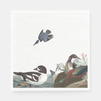Servilletas de papel de la fauna de los pájaros