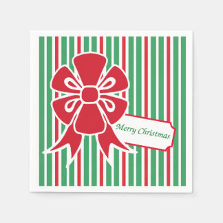 Servilletas de papel de la fiesta de Navidad roja