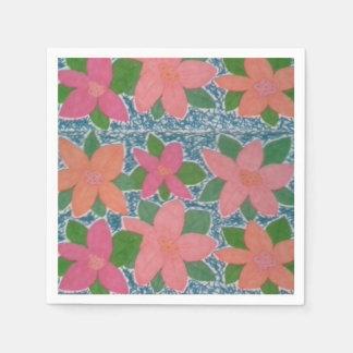 Servilletas de papel de la flor tropical