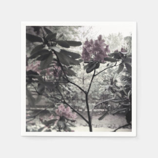 Servilletas de papel de la foto floral