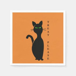 Servilletas De Papel De la invitación gato por favor