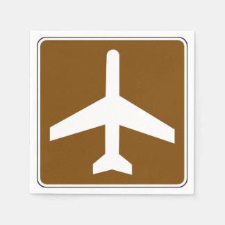 Servilletas de papel de la muestra del aeropuerto