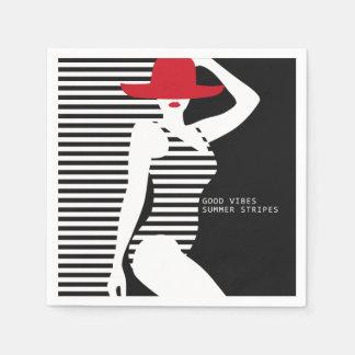 Servilletas de papel de la mujer del verano