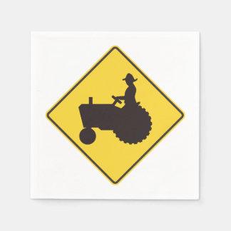 Servilletas de papel de la señal de tráfico del