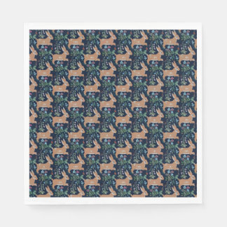 Servilletas de papel de la tapicería medieval del