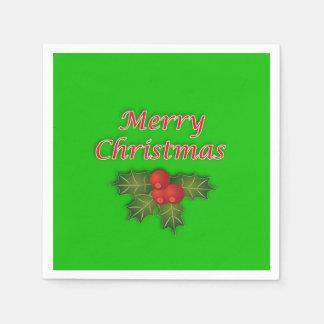 Servilletas de papel de las Felices Navidad