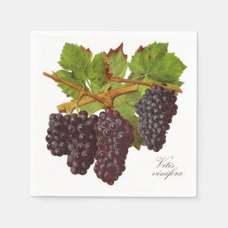 Servilletas de papel de las uvas púrpuras