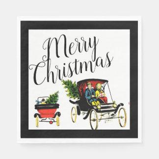 Servilleta Desechable Servilletas de papel de los saludos del navidad