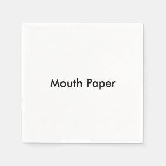 """Servilletas de papel de papel de la """"boca"""""""