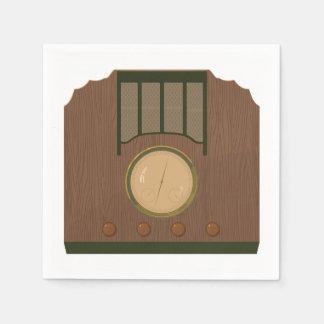 Servilletas de papel de radio retras de madera