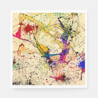 Servilletas de papel del alumerzo de las pinturas