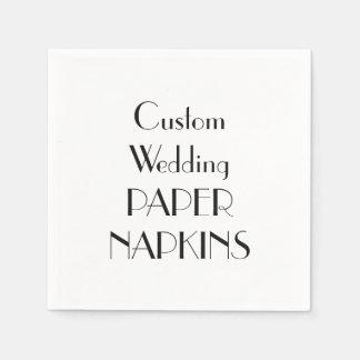 Servilletas de papel del banquete de boda de