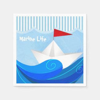 Servilletas de papel del barco