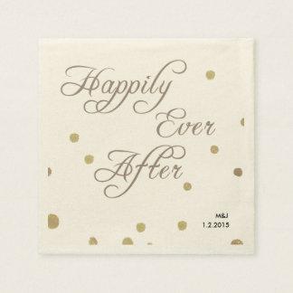 Servilletas de papel del boda romántico de Fusian