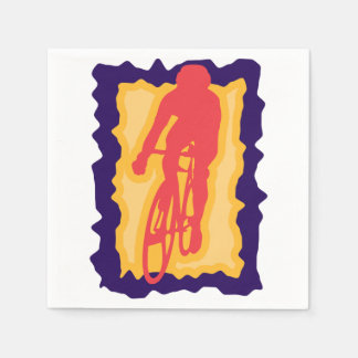 Servilletas de papel del ciclista