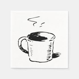 Servilletas de papel del ejemplo de la taza de