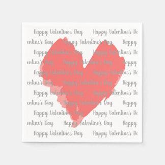 Servilletas de papel del el día de San Valentín