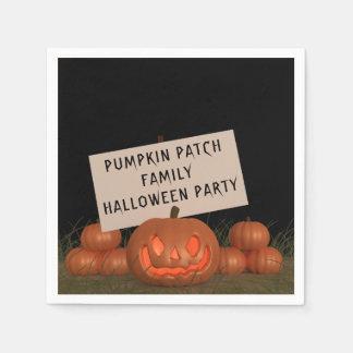 Servilletas de papel del fiesta de Halloween de la