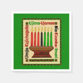 Servilletas de papel del fiesta de Kwanzaa de los